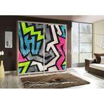 Šatní skříň PEM 205 graffiti