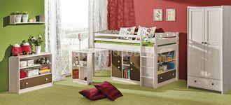 Dětská patrová postel s výsuvným stolem KAMIL