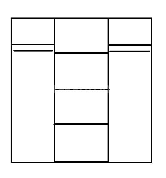 Šatní skříň MAT3