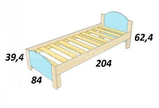 Dětská postel BOŘEK K 204