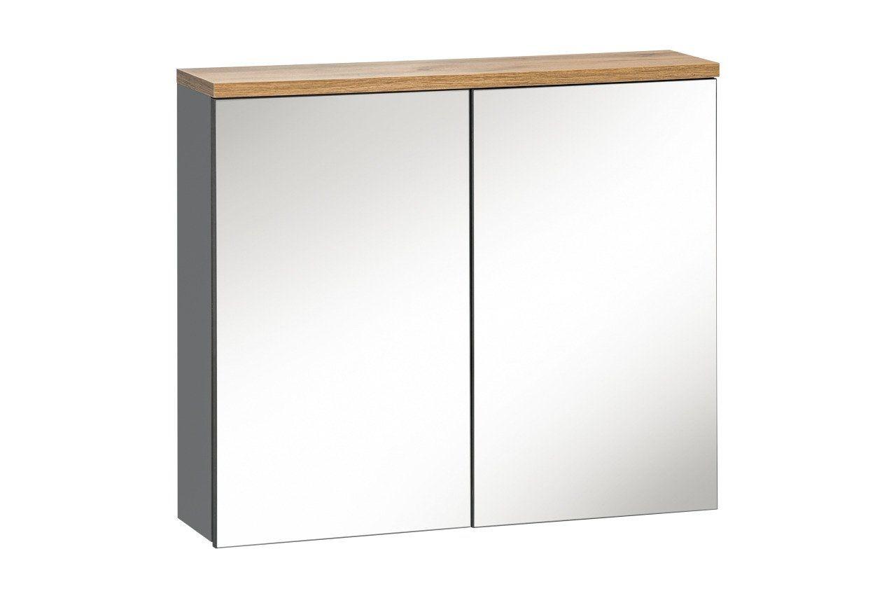 Koupelnová skříňka BALLI GREY 841 - závěsná zrcadlo 80
