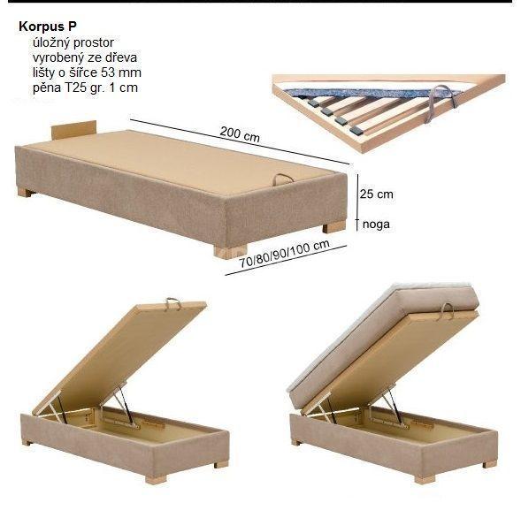 Manželská postel BOXSPRING 105