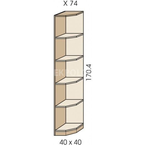 Rohový regál JIM 5 X 74