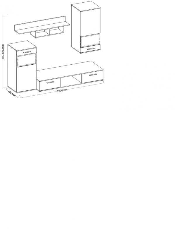 Obývací stěna Blus