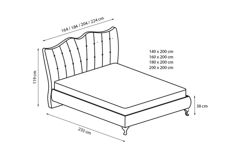 Manželská postel PRINCESA