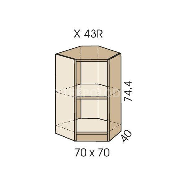 Rohová skříň JIM 5 X 43R