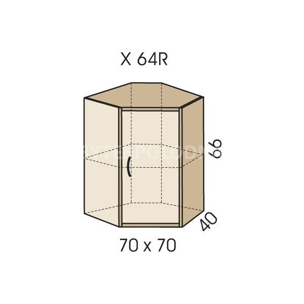 Rohový nástavec na skříň JIM 5 X 64R