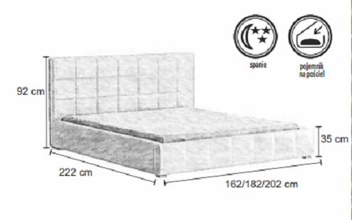 Manželská postel CHESTER