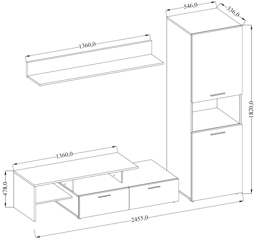 Obývací sestava JANG