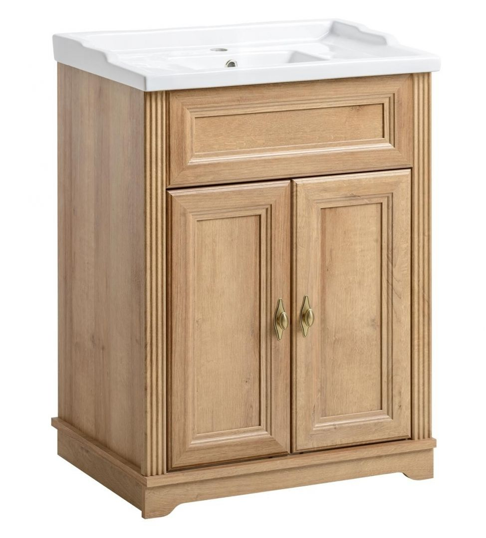 Koupelnová skříňka PALAS DUB 820 - pod umyvadlo 60