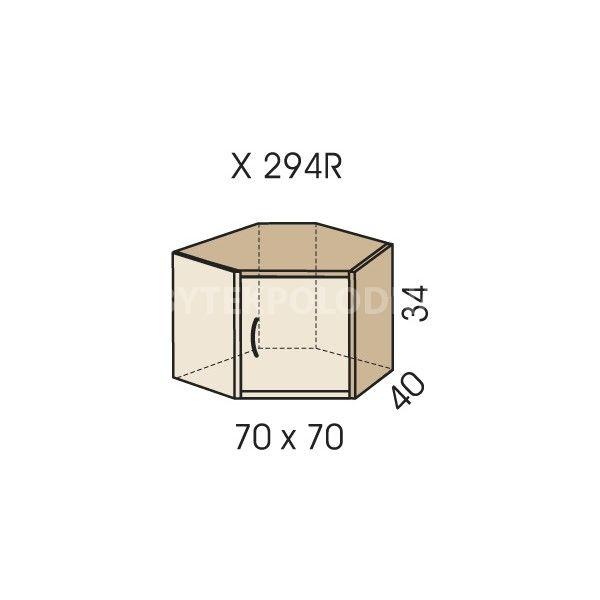 Rohový nástavec na skříň JIM 5 X 294R