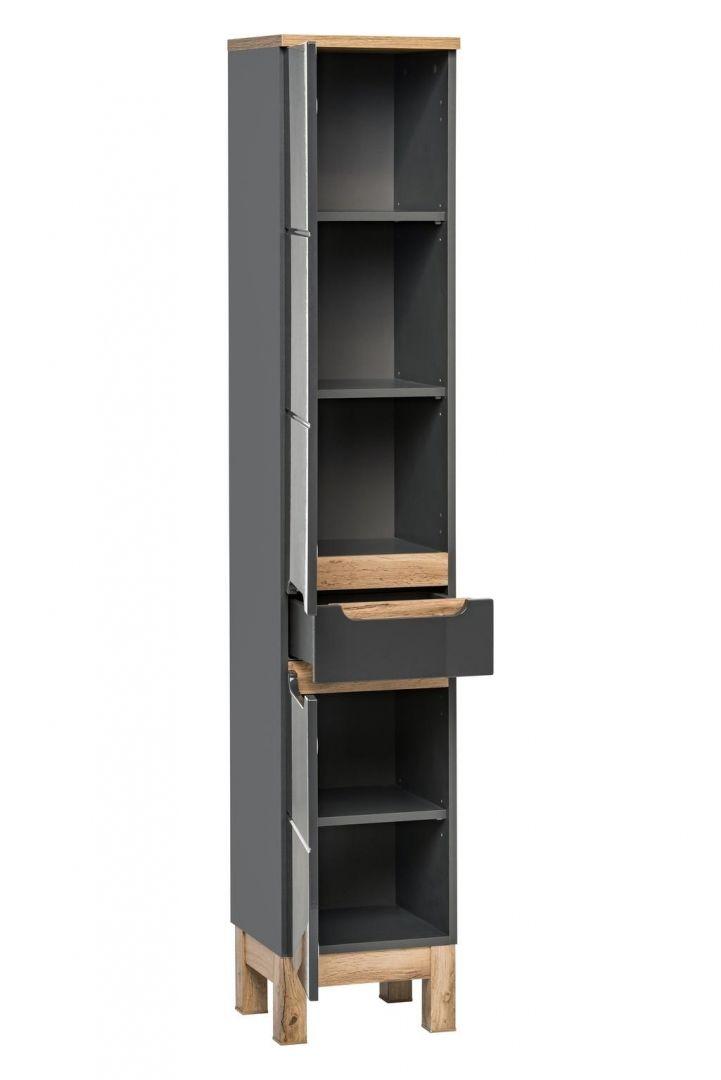 Koupelnová skříňka BALLI GREY 800 - vysoká