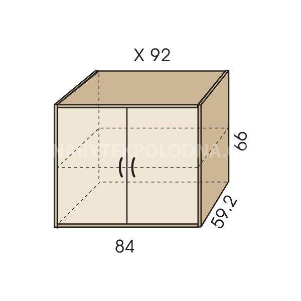 Nástavec na skříň JIM 5 X 92