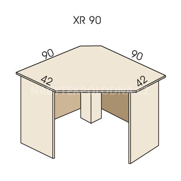 Psací stůl rohový JIM 5 XR 90
