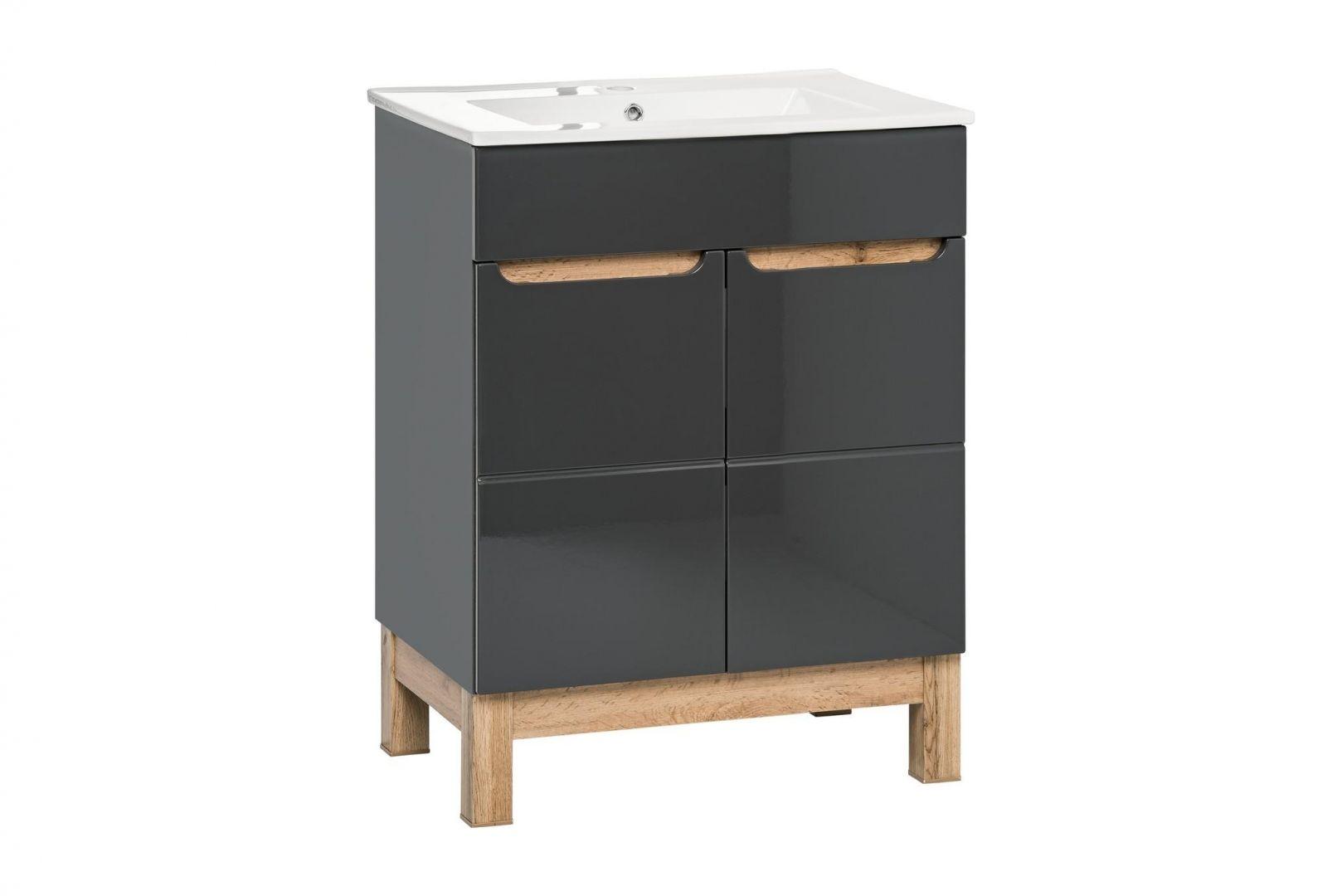 Koupelnová skříňka BALLI GREY 820 - pod umyvadlo 60