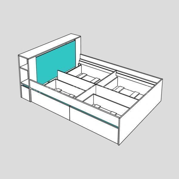 Manželská postel REA AMY 31/180