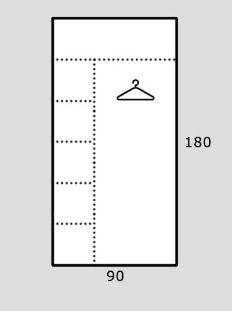 Rohová šatní skříň REA AMY 32/180