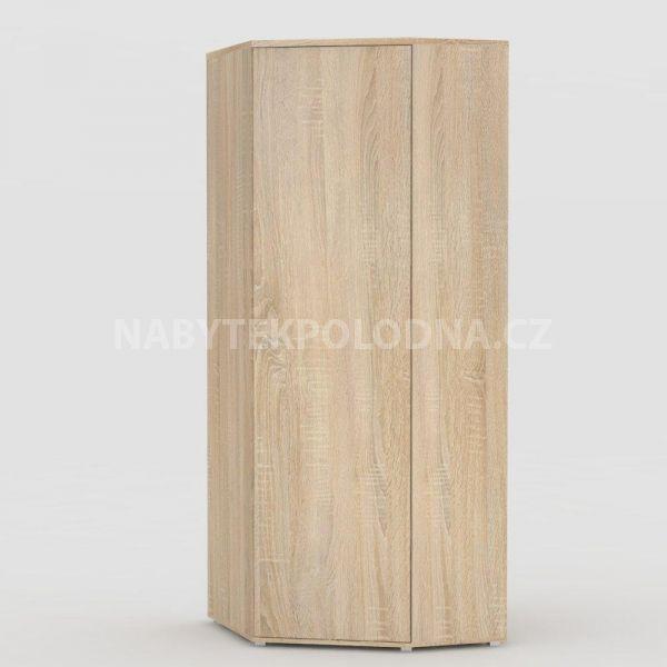 Rohová šatní skříň REA AMY 33/180