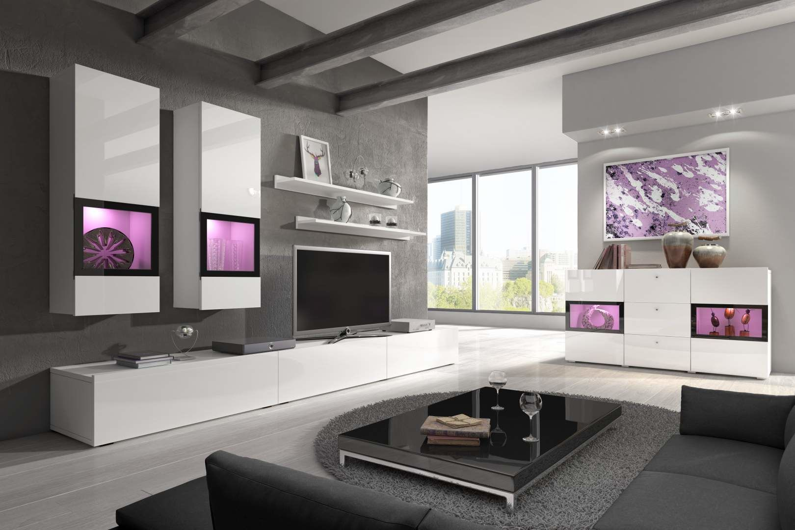 Obývací sestava BAROS 10 bílá