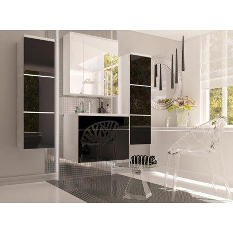 Koupelnová sestava PORTOS černý lesk