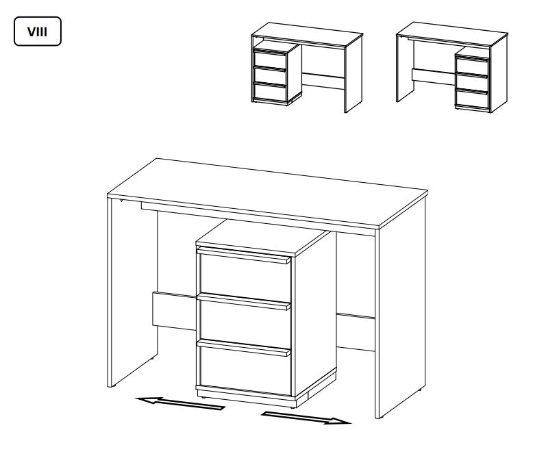 Pracovní stůl EVADO 14