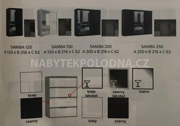 Šatní skříň SAMBA 120