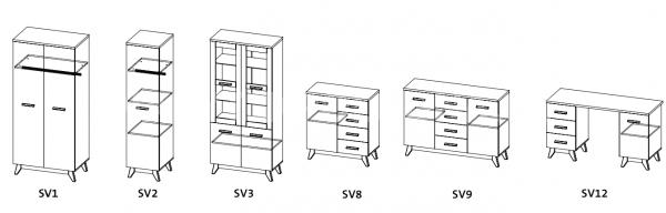 Obývací sestava SVEN 2