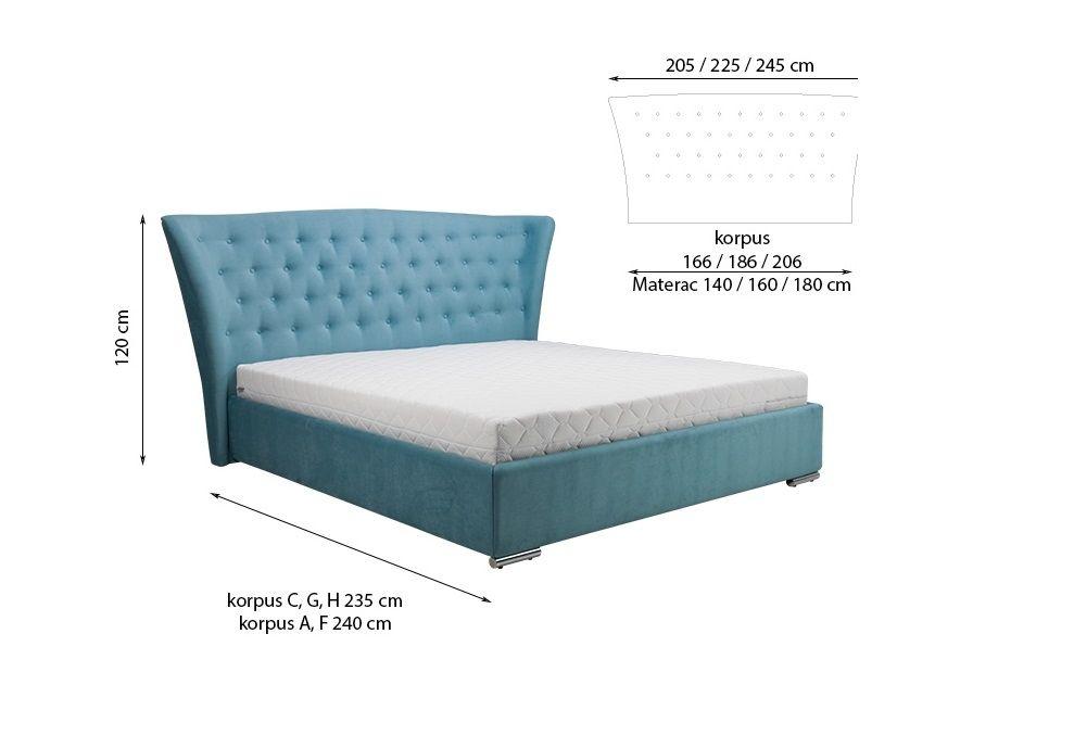 Manželská postel MINI-MAX 5100