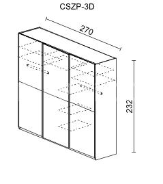 Šatní skříň KREMONA 3D