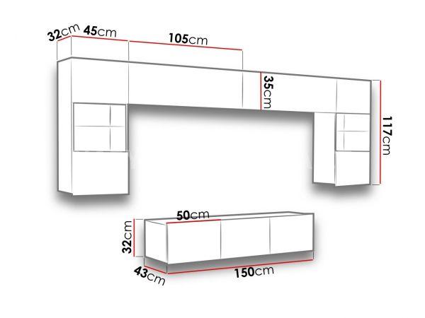 Obývací stěna CALABRINI II