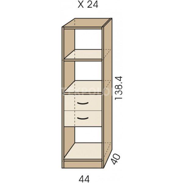 Regál se zásuvkami JIM 5 X 24