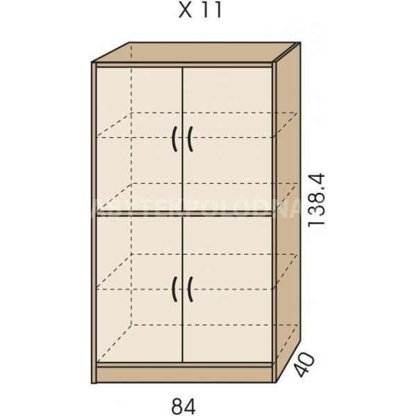 Kombinovaná skříň JIM 5 X 11
