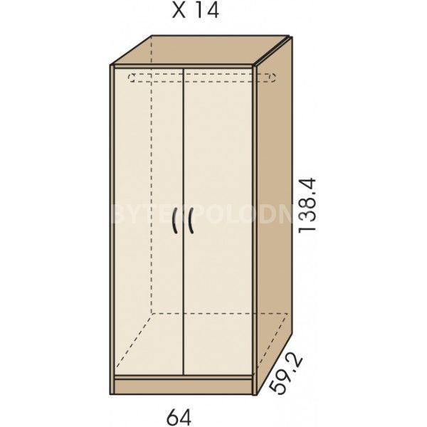 Šatní skříň JIM 5 X 14