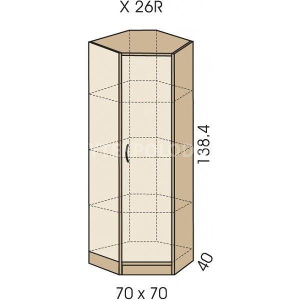 Rohová skříň JIM 5 X 26R