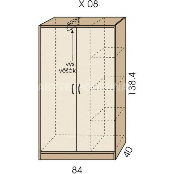 Šatní skříň JIM 5 X 08