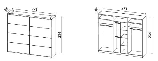 Šatní skříň VIEN 271