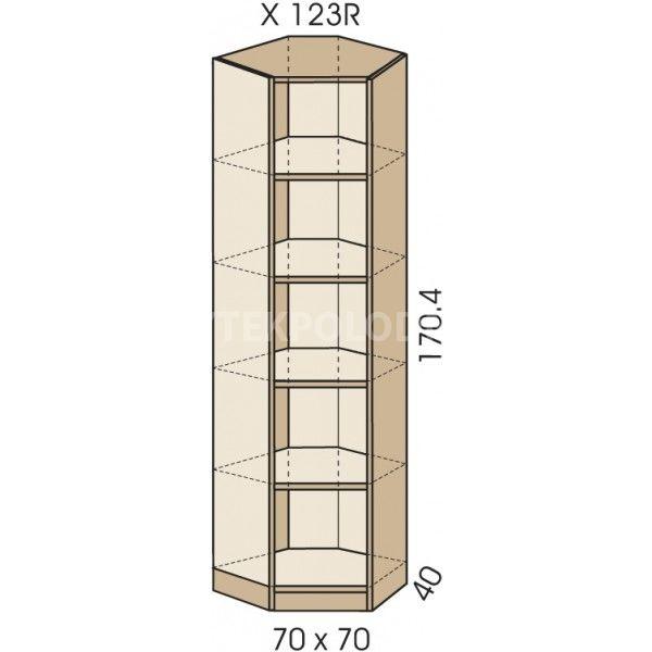 Rohová skříň JIM 5 X 123R