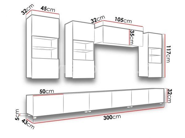 Obývací stěna CALABRINI XI