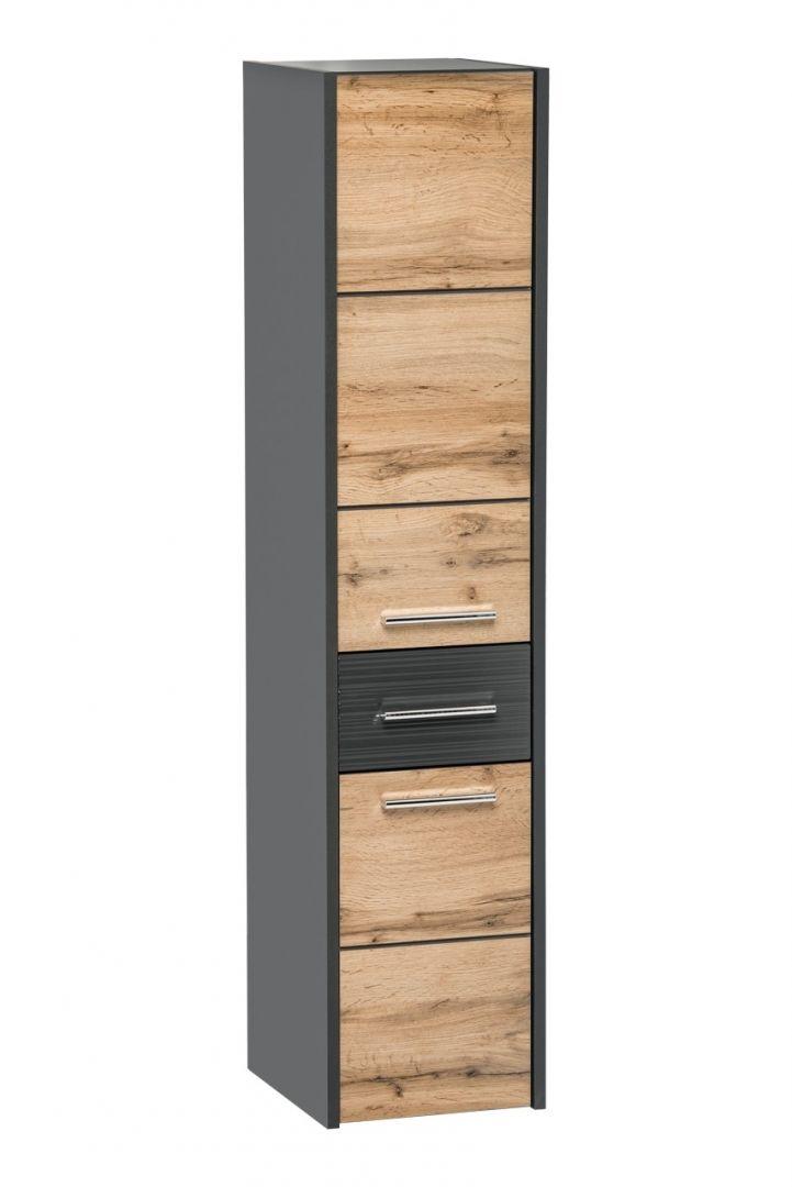 Koupelnová skříňka BIZA ANTRACIT 800 - vysoká
