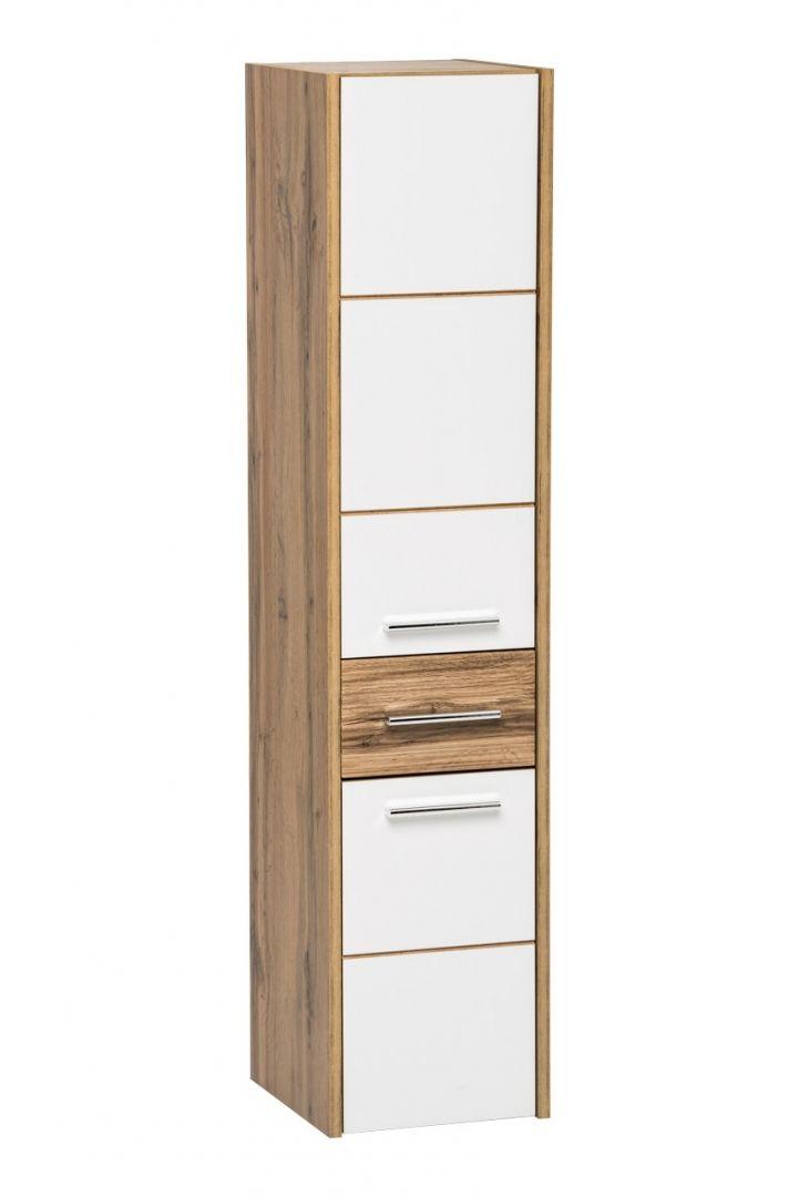 Koupelnová skříňka BIZA WHITE 800 - vysoká