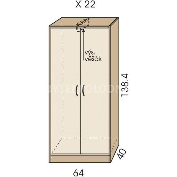 Šatní skříň JIM 5 X 22