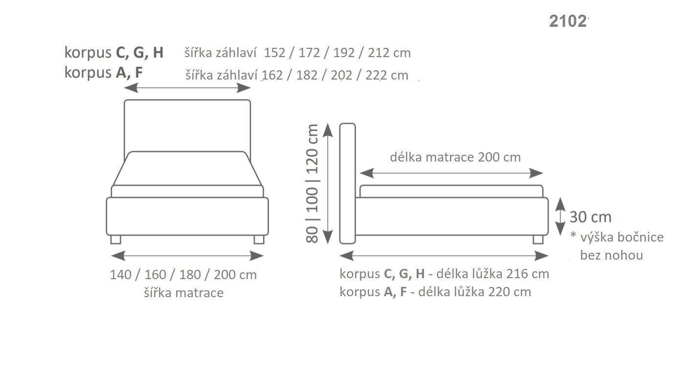 Manželská postel MINI-MAX 2102