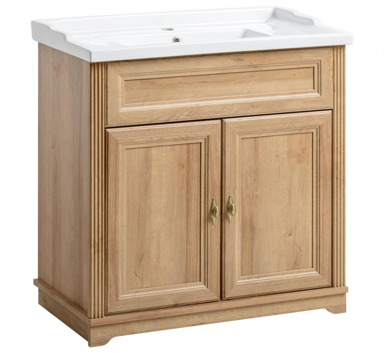 Koupelnová skříňka PALAS DUB 821 - pod umyvadlo 80