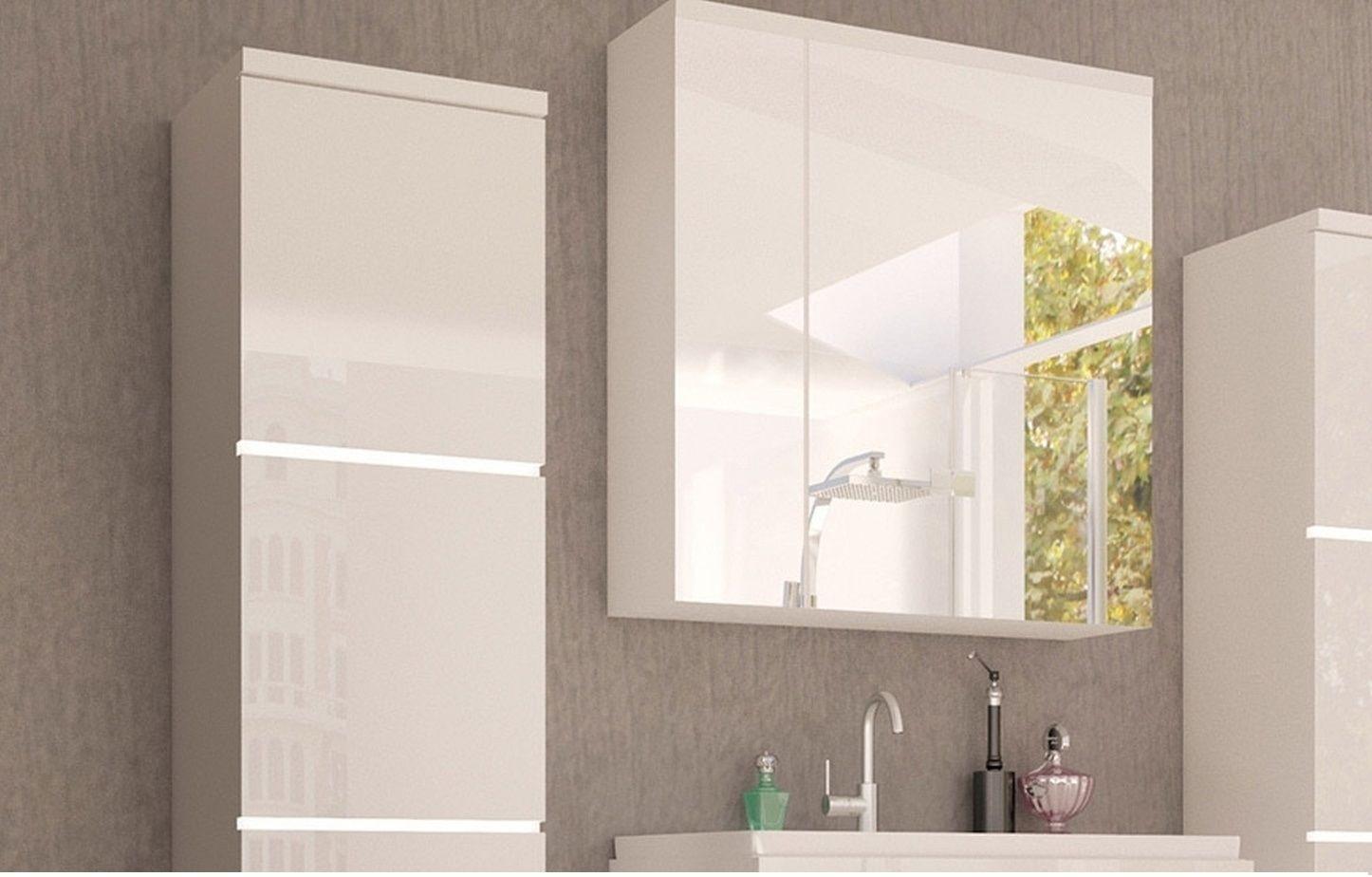 Koupelnová skříňka se zrcadlem PORTOS