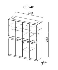 Šatní skříň CREMONA II 4D