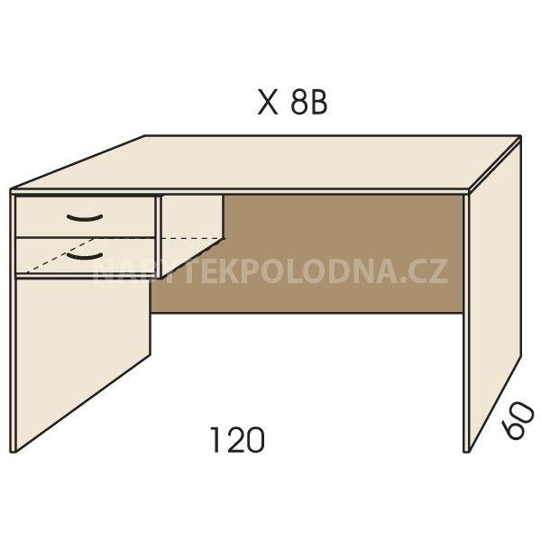 Psací stůl JIM 5 X 8B