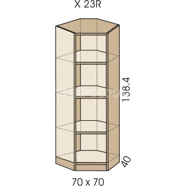 Rohová skříň JIM 5 X 23R
