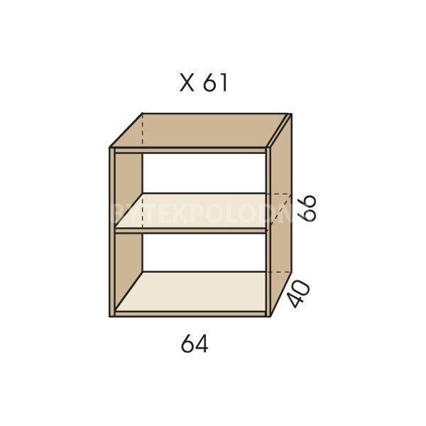 Nástavec na skříň JIM 5 X 61