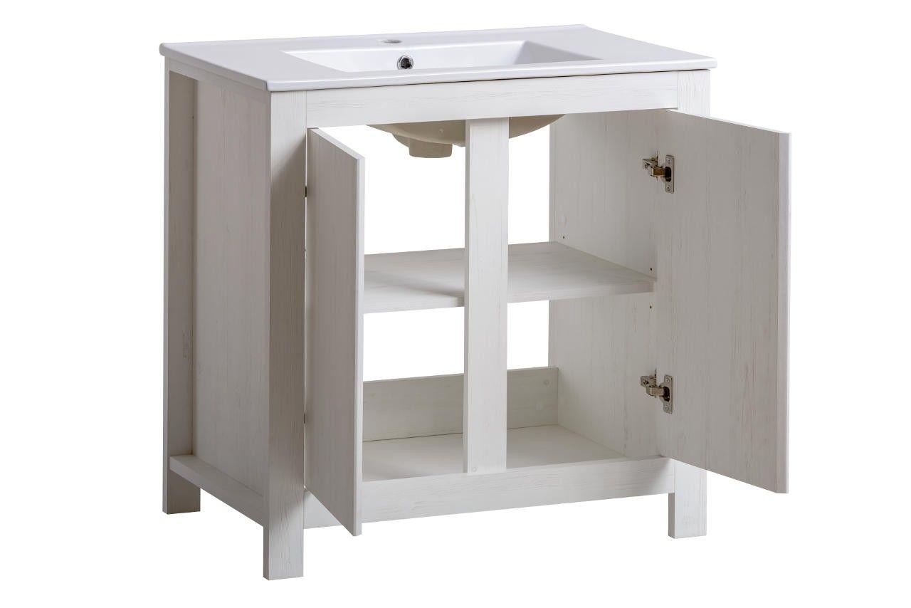 Koupelnová skříňka CLASSIC ANDERSEN 820 BÍLÁ - SKLADEM