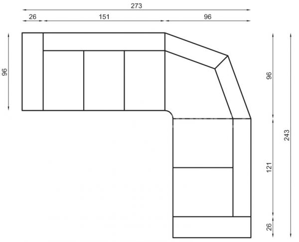 Kožená rohová sedačka OSCAR program